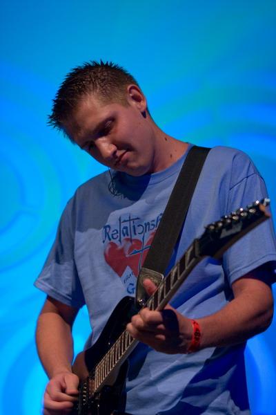 Luke Harden on guitar