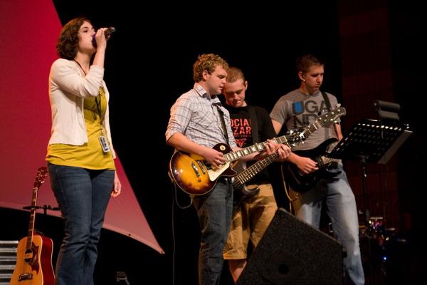 Megan Monroe, Josh Rector, Nate Koch, and Luke Harden